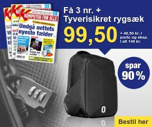 Komputer for alle + tyverisikret rygsæk med hængelås