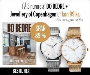 Få 3 nr. af BO BEDRE  + Jewellery of Copenhagen ur