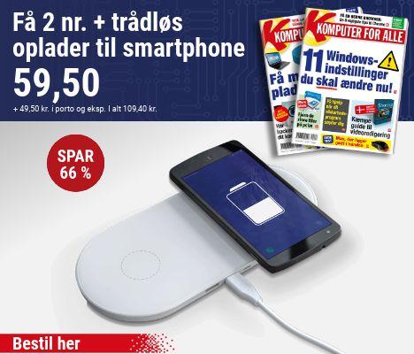Komputer for alle + Trådløs oplader til smartphone