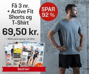 Aktiv Træning + ActiveFit Shorts + T-Shirt