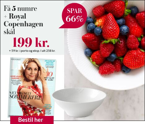 Magasinet Liv + Royal Copenhagen skål