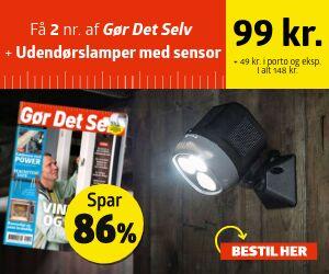 Gør Det Selv + Udendørslamper med sensor og batteri