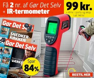 Gør det Selv + Infrarødt termometer med laser