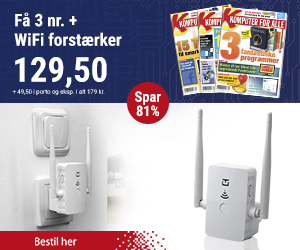 Komputer for alle + WiFi forstærker