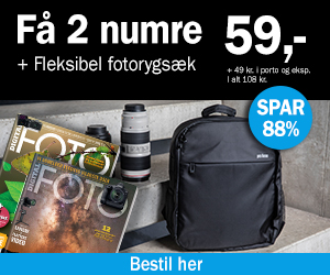 Digital FOTO + Fleksibel fotorygsæk